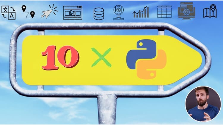 The Python Mega Course: Build 10 Real World Applications 2020 Free
